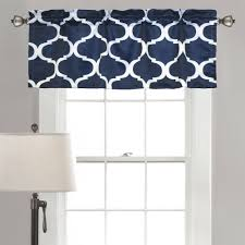Walmart Navy Blue Curtains by Geo Window Valance Walmart Com