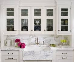 kitchen cabinets white cabinets carrara marble small kitchen