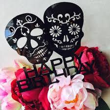 sugar skull cake topper sugar skull cake topper happy birthday sugarskull cake topper cake