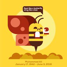 float like a butterfly sting like a bee muhammad ali on behance