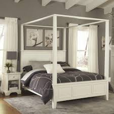 size canopy bed frame home styles naples white king canopy bed 5530 610 the home depot