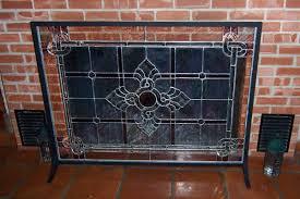 wonderful glass fireplace doors energy efficiency with black