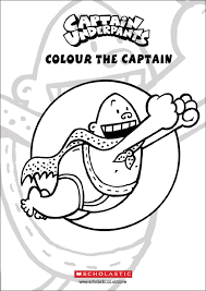 draw captain underpants colouring sheet