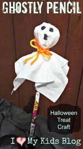 ghostly pencil halloween craft