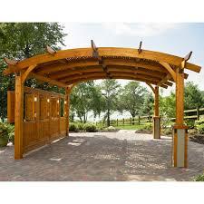 sonoma arched wood pergola 16 x 16 ft hayneedle