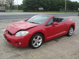 wrecked subaru outback lightly damaged 2007 mitsubishi eclipse spyder gs convertible
