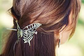 butterfly hair hair stick hair slide butterfly oberon design