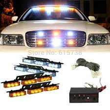 Blue Lights For Firefighters 4 X 9 Led White Green Amber Red Blue Color Cars Truck Led Flash