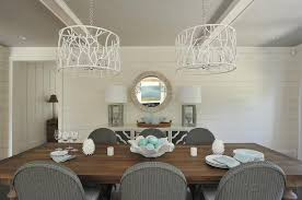 White Wood Dining Table Round Wood Dining Table With Gray Slipcovered Dining Chairs