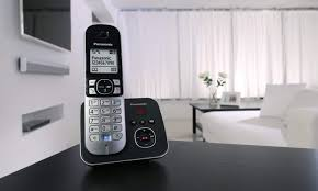 buy panasonic kx tg6822eb twin dect cordless telephone set with
