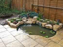 build a small water feature purbeck stone rockery waterfall and