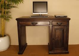 Computer Desk Hard Wood Natural Living Furniture Wooden Sheesham Hardwood Rosewood