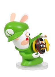 Fertigk He Mario U0026 Rabbids Kingdom Battle Figur Rabbid Luigi 8 Cm