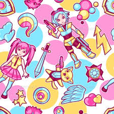 anime wrapping paper japanese anime seamless pattern by incomible graphicriver