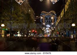 Christmas Decorations Oxford Street - christmas decorations oxford street london england stock photo