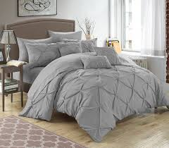 amazon com chic home 10 piece hannah pinch pleated ruffled and