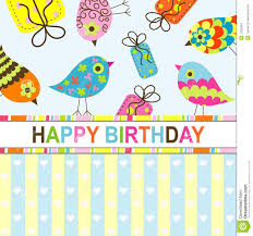 template birthday greeting card stock vector image 22320053