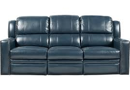 Reclining Armchair Leather Market Avenue Blue Leather Power Reclining Sofa 1 266 00 86w X