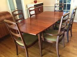 mid century walnut dining table modern walnut dining table walnut large dining table seats 6 to 8