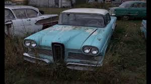 junkyard car youtube farmyard relics exploring a field of old classic junkyard cars