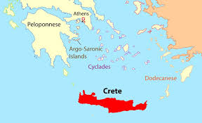 island on map crete location map and travel guide