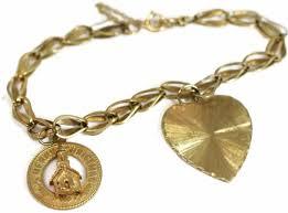 vintage charm bracelet necklace images 14k gold vintage charm bracelet with heart and christmas charms jpg