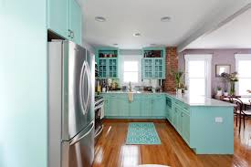 blue country kitchens white cabinets to go in kitchen design
