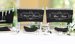 black chair sashes of honor best pair of chair sashes wedding and party
