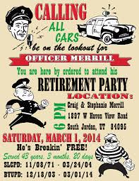 free printable police officer retirement invitation send an email