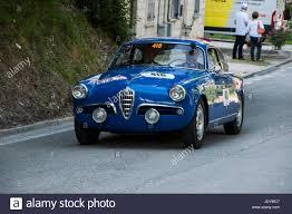 alfa romeo giulietta classic alfa romeo giulietta sprint veloce 1956 on an old racing car in