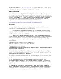 Job Skill Examples For Resumes Resume With Summary Of Qualifications Resume And Cover Letter