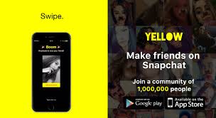 snapchat app for android what is yellow it s a new app that turns snapchat into tinder