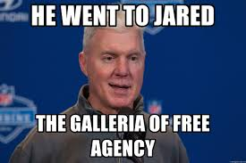 He Went To Jared Meme - he went to jared the galleria of free agency ted thompson meme