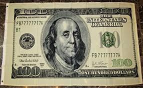 amazon com hundred dollar bill flag 3x5 benjamin franklin