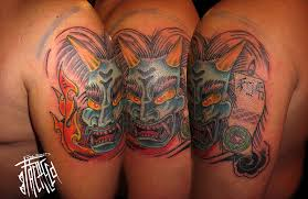 oni tattoo living in lava land