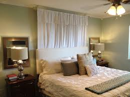 Hanging Curtains From Ceiling by Curtain Over Bed