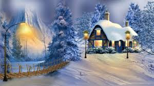 winter winter holidays house season greetings desktop