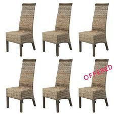 Outdoor Rattan Armchairs Set Of Dining Chairs Buy 5 Rattan Chairs Get 1 Free