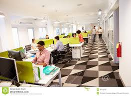Interior Modern Design by Interior Of Busy Modern Design Office Stock Photo Image 47135762