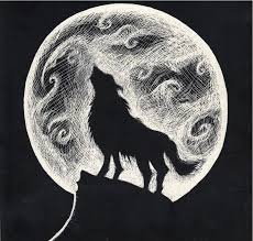 wolf howling at the moon by caylalydon on deviantart