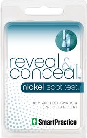 nickel allergy testing nickel allergy spot test reveal conceal