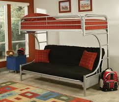 cheap bunk bed with futon and desk best home furniture design