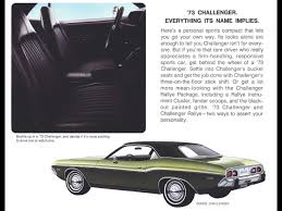 Dodge Challenger 1974 - 1970 1974 dodge challenger period photos 1973 advertisement