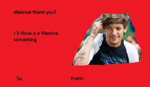one direction valentines 1d cards