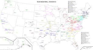 Nba Divisions Map College Basketball