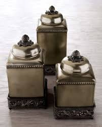 bronze kitchen canisters artimino fleur de lis canister metal rack earthenware and dillards