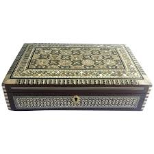 pearl necklace box images Oriental jewelry box with mother of pearl inlay for sale at 1stdibs jpg