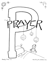 p is for prayer bible alphabet coloring page praying coloring