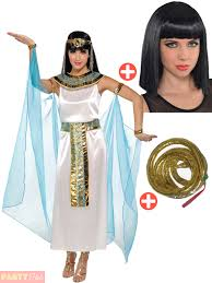 egyptian halloween costumes cleopatra costume wig egyptian queen fancy dress ladies