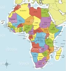 africa map all countries africa map countries and cities stock vector 455468023 istock